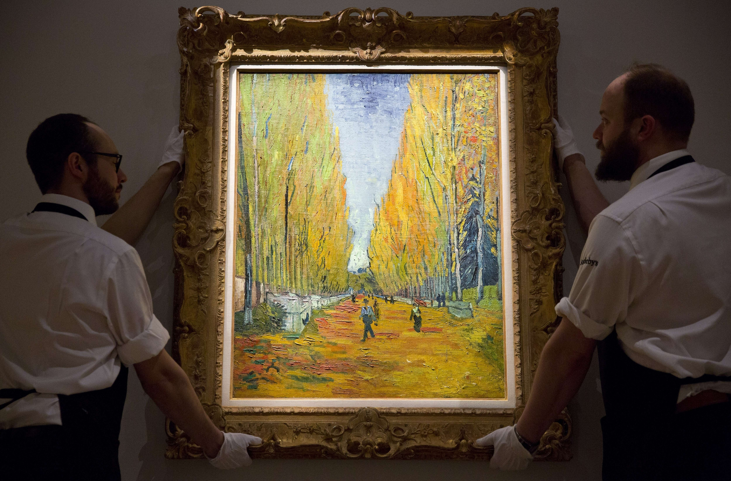 Van gogh 39 s painting sells for 66m nearly six times its for Cost of a mural