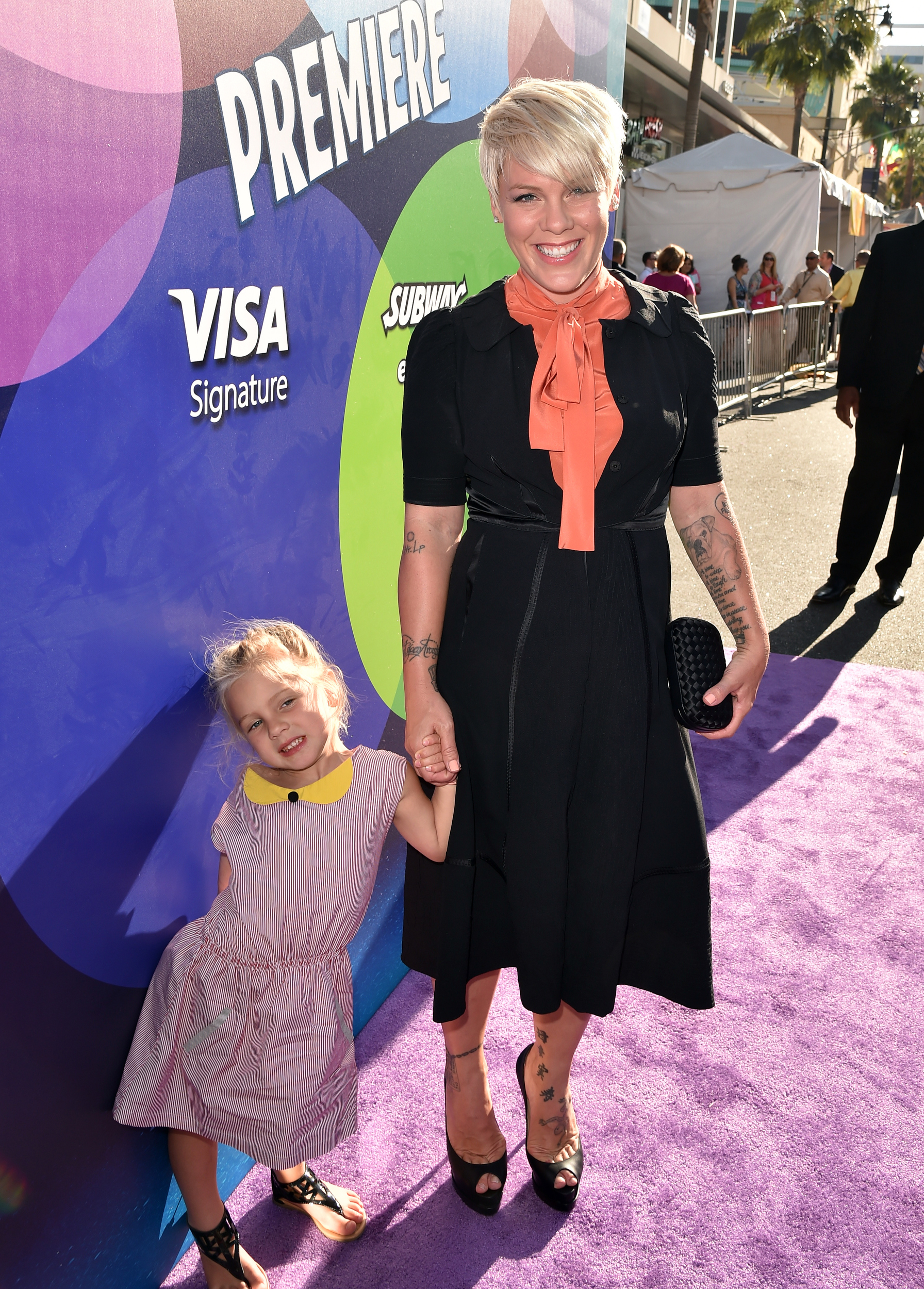 Pink Brings Adorable Daughter Willow To Inside Out