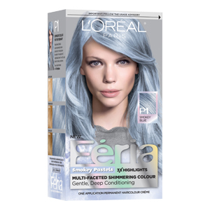 How to diy peekaboo pastel hair highlights aol lifestyle fria smokey pastels hair color in smokey blue solutioingenieria Image collections