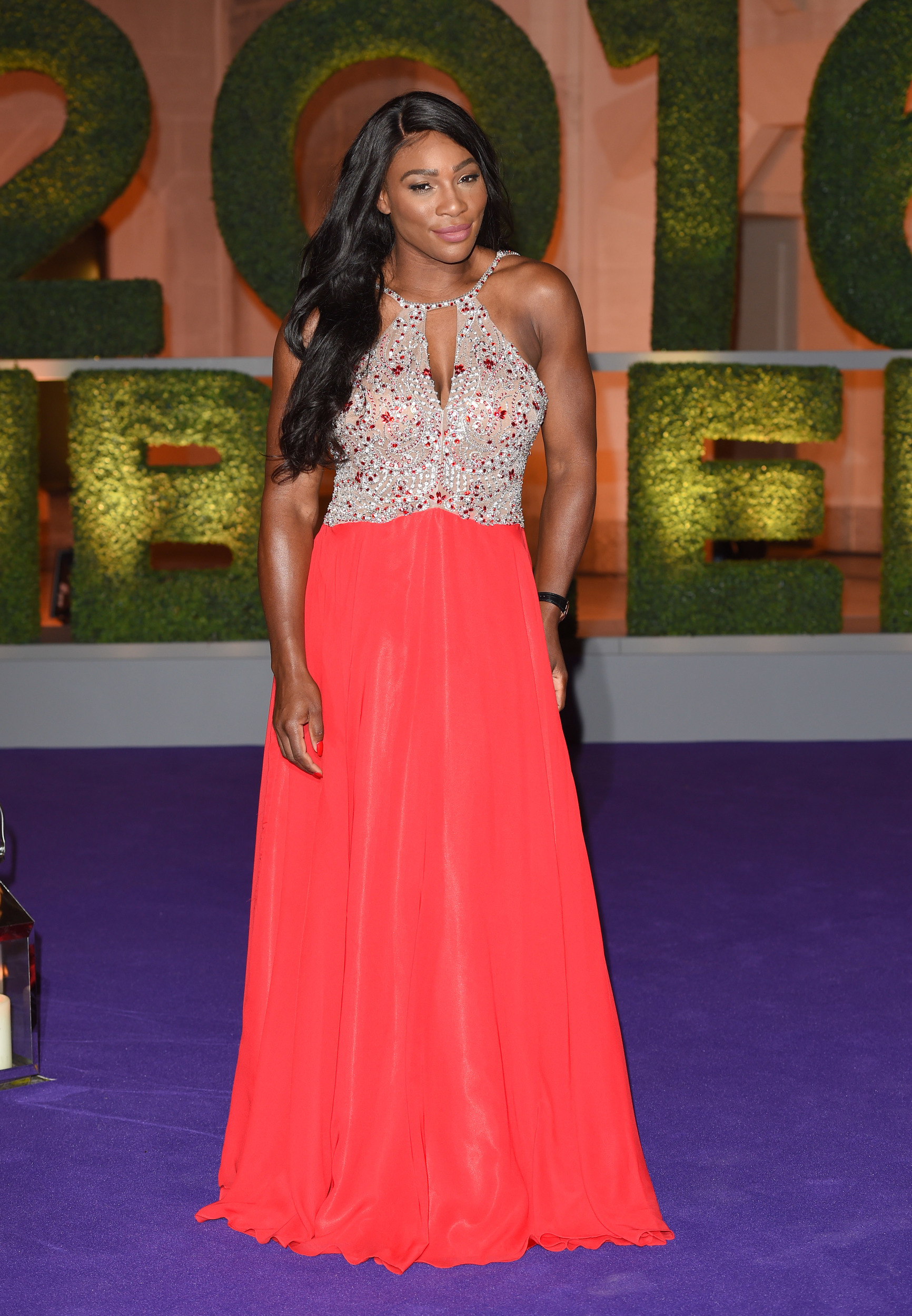 Serena Williams dazzles in coral gown at Wimbledon Winner\'s Ball ...