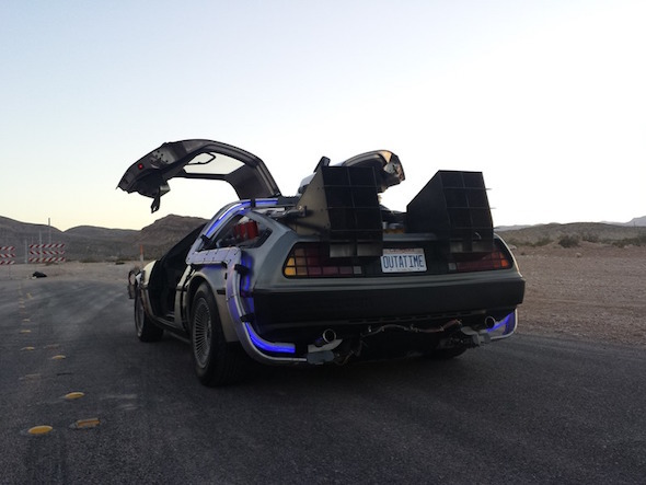 authentic back to the future delorean spotted for sale aol. Black Bedroom Furniture Sets. Home Design Ideas