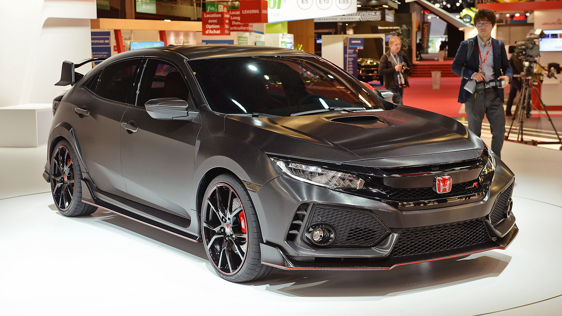 honda civic type r concept paris 2016 0 autoblog. Black Bedroom Furniture Sets. Home Design Ideas