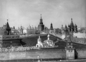 View of the Moscow Kremlin from the Moskva River, Russia, c1908-c1910. Artist: Scherer Nabholz & Co