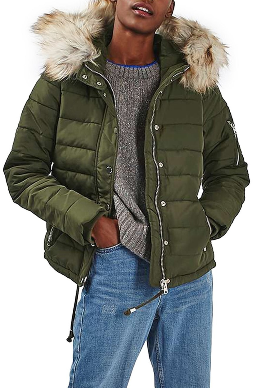 This Chic Element Gives The Puffer Coat An Ultimate