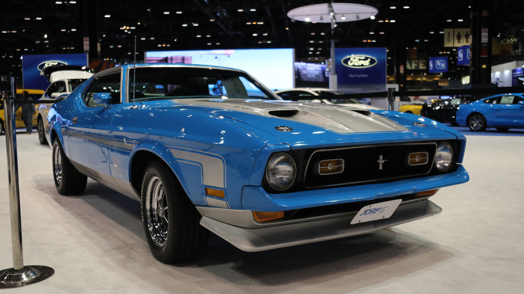 1971 ford mustang mach 1 - Ford Mustang Cobra Jet Engine