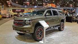 Luke Bryan Chevy Suburban is a rolling hunting blind ...
