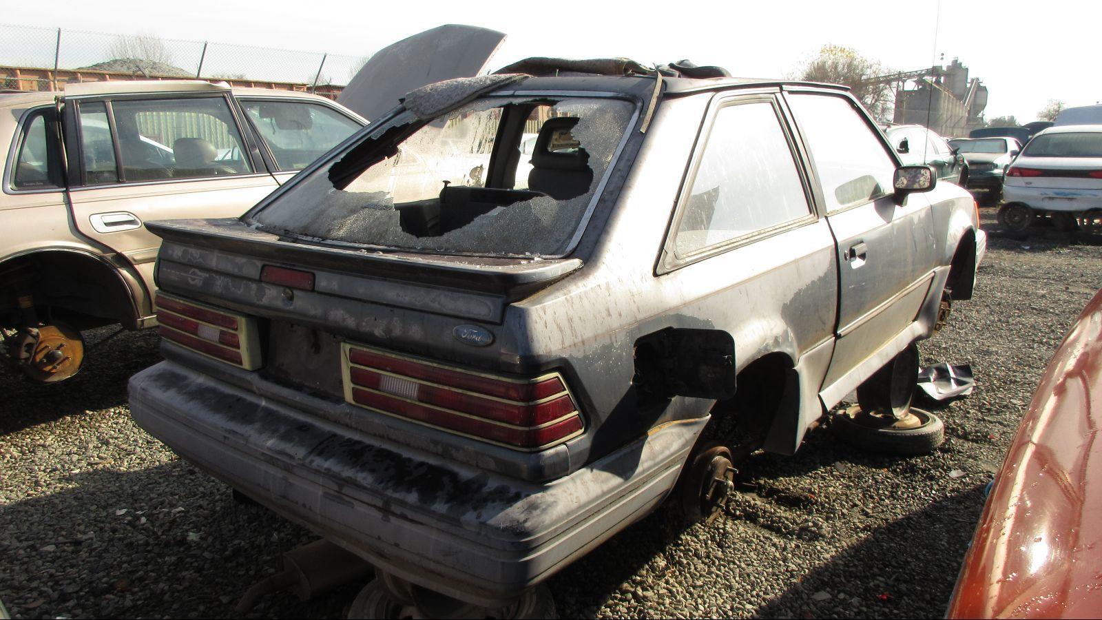 Junked  Ford Escort Gt In California Wrecking Yard Photo Gallery Autoblog