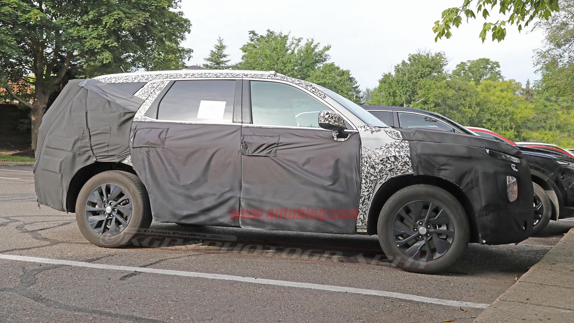 Vwvortex Com Spy Photos Large Hyundai Suv Set To
