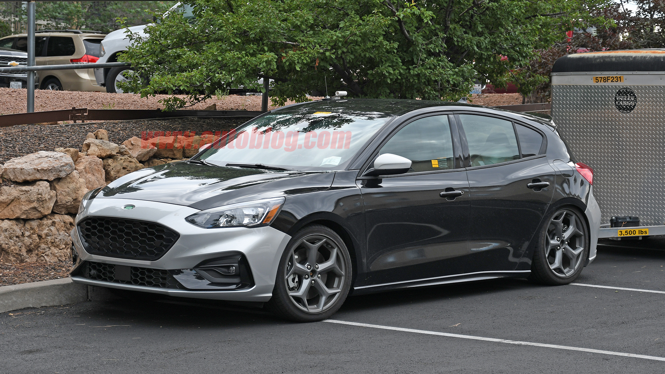 2020 ford focus st spied with no camouflage