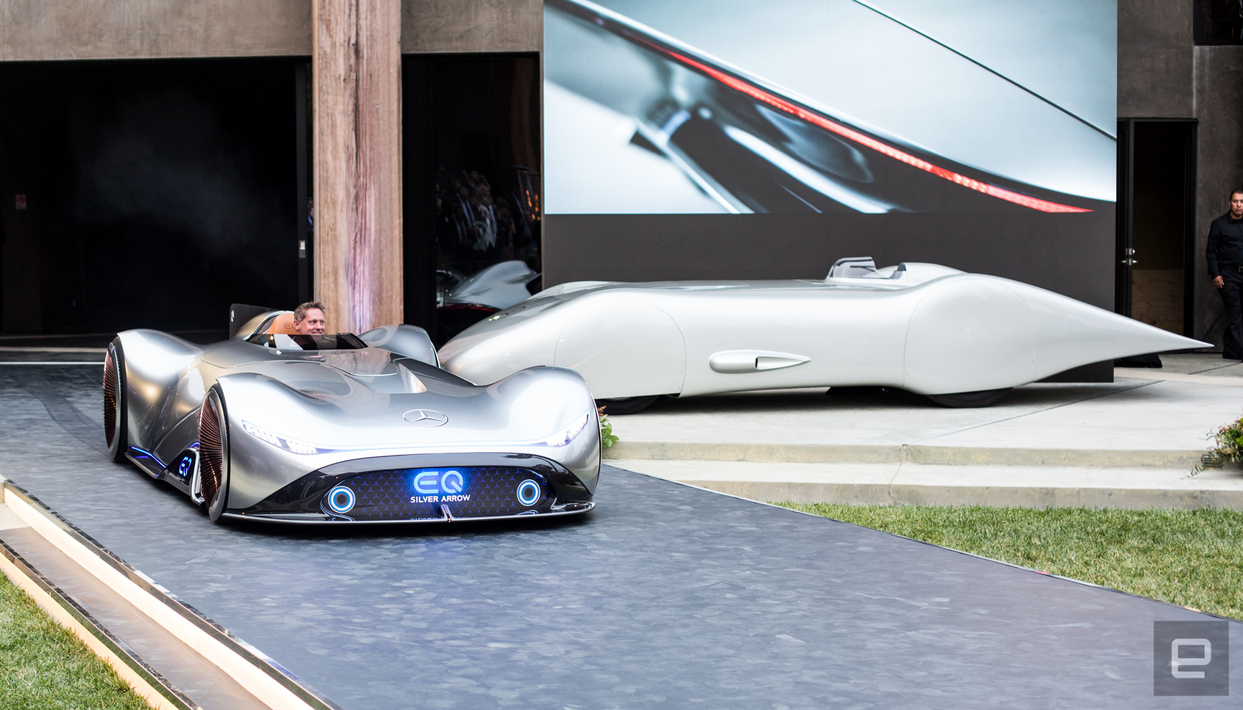 The electric mercedes benz eq silver arrow among the stars for Mercedes benz of palm beach staff