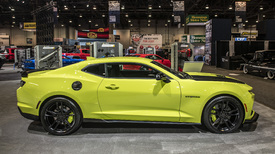 2019 Chevy Camaro shows off new color, SS fascia at SEMA ...