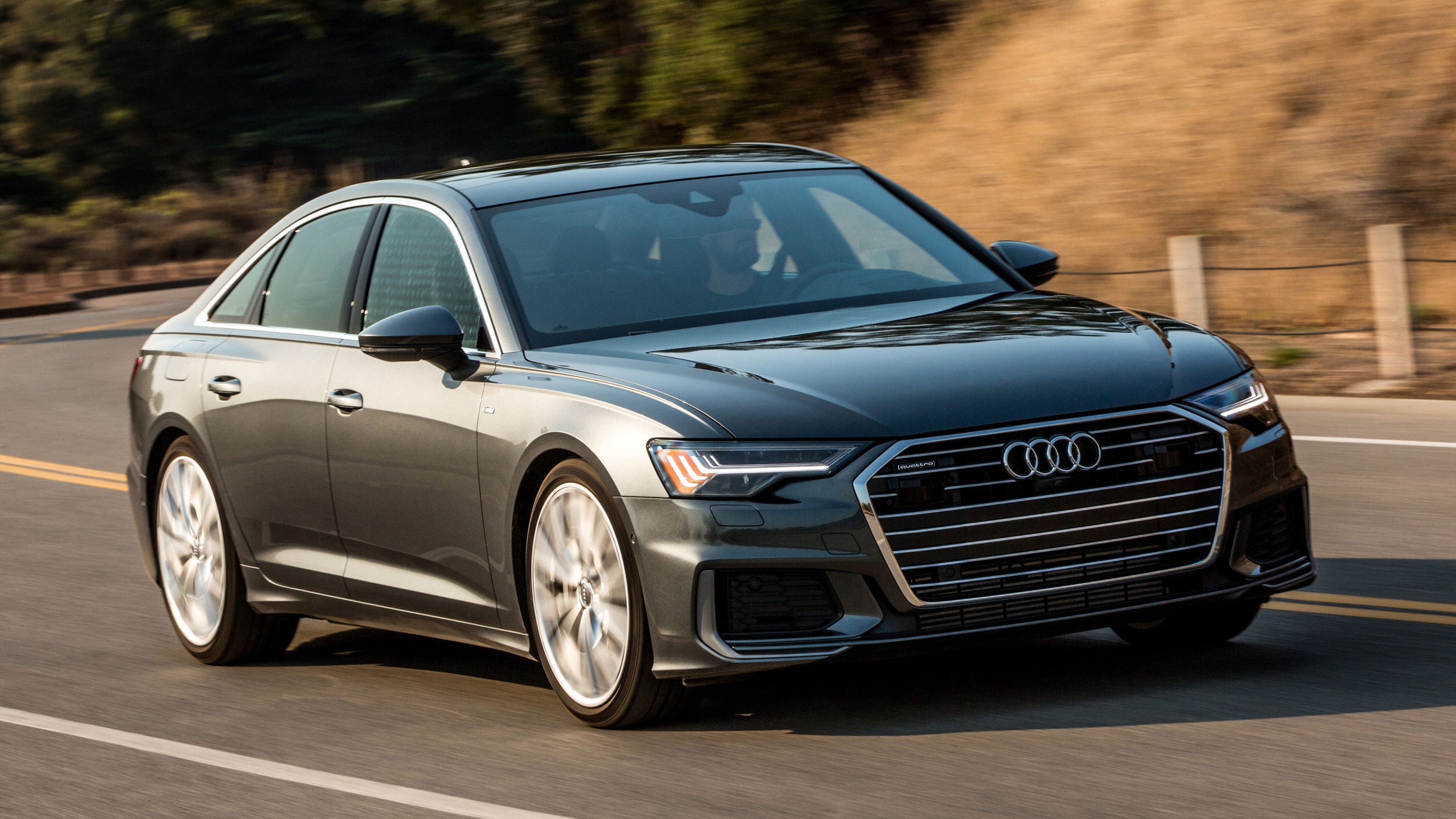2019 Audi A6 luxury sports sedan driving review | Autoblog