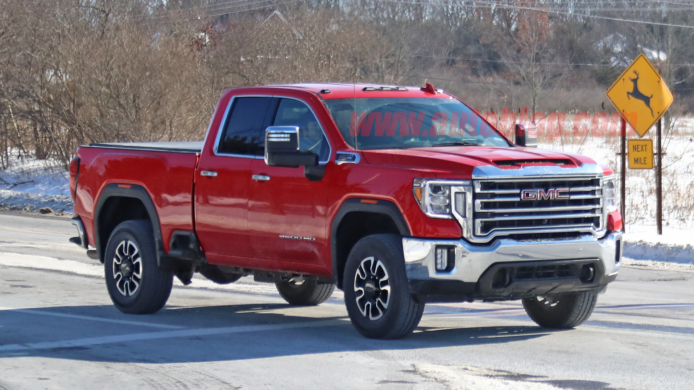 2020 Gmc Sierra Hd Spied In Double Cab Gas Powered Form