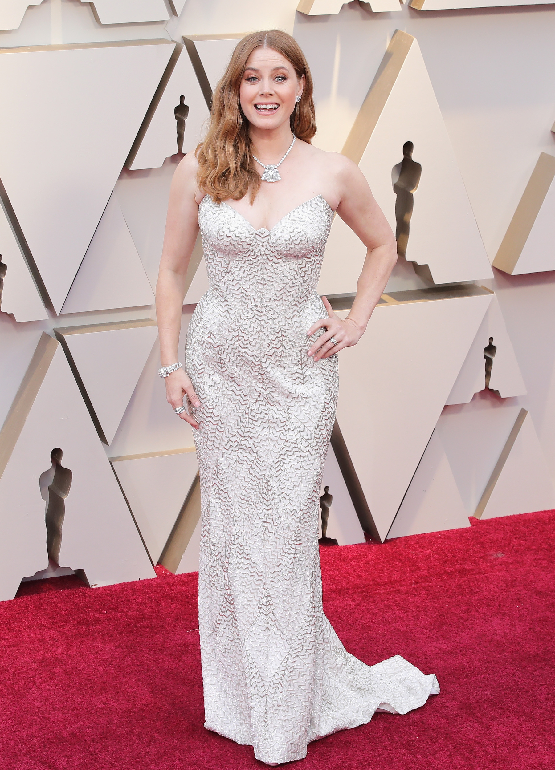 Amy Adams is beautiful, and she s an incredible actress. But there s no way this outfit could get even a smidge more boring.