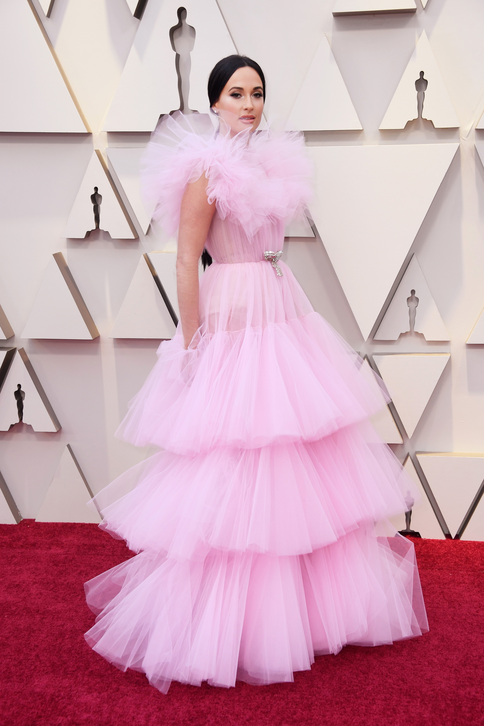 Just a stray thought: if your tulle is blocking your peripheral vision, your dress might have too much tulle.