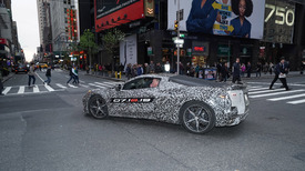 Chevy Corvette mid-engine C8 reveal date set as it hits streets of NYC - Autoblog