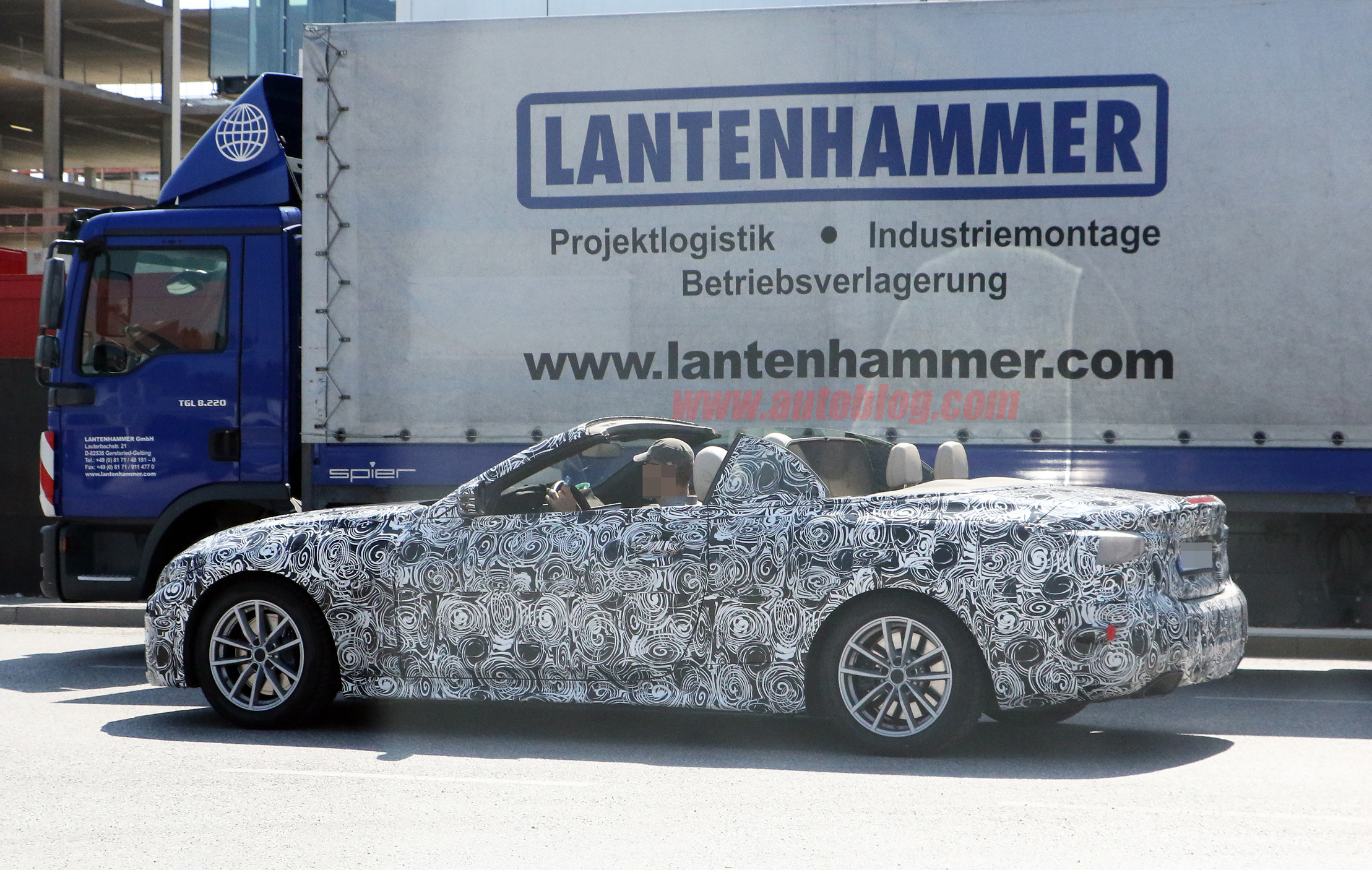 2020 BMW 4 Series convertible spied with top down | Autoblog