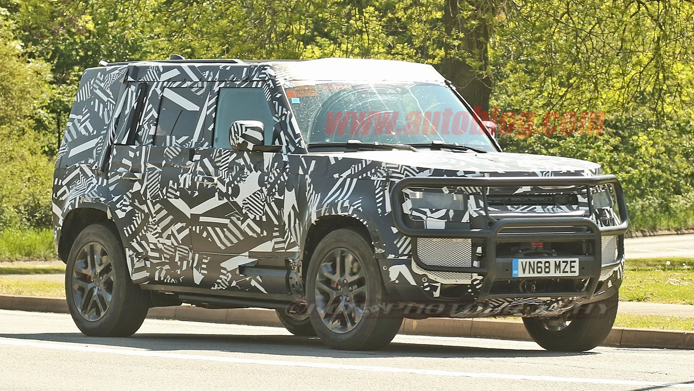2020 Land Rover Defender Hybrid Spied With A Winch