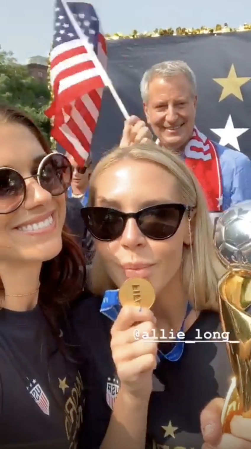 Alex Morgan spills the tea on Trump, celebrations and the