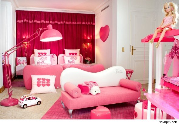 New for 2011: Barbie hotel rooms cater for kids - AOL