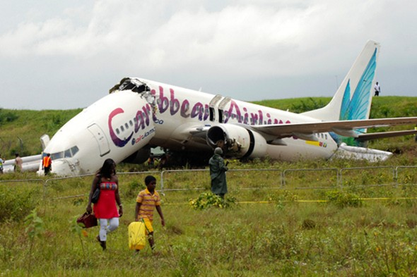Passengers escape injury as plane snaps in half in Guyana