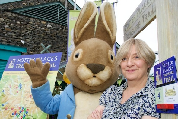 Bunny hop! Victoria Wood and Peter Rabbit launchPotter Places Treasure Trail