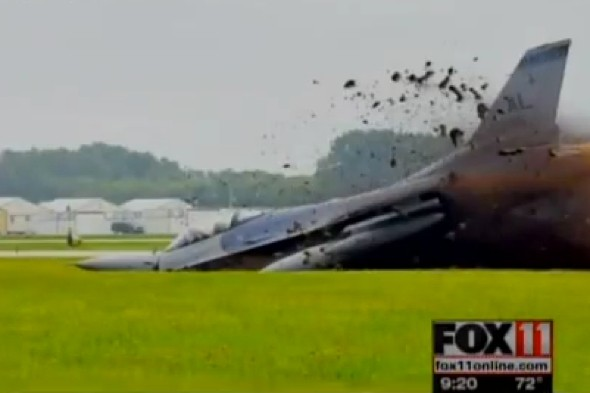 Video: Plane nose-dives to ground and man walks away unhurt
