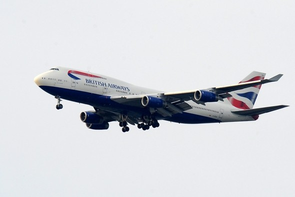 Woman's terror at seeing engine burst into flames mid-air on BA flight