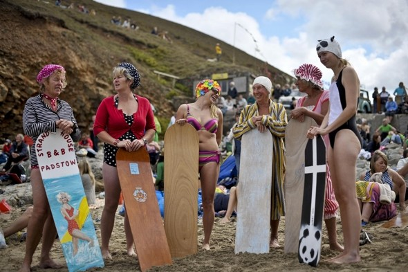 Surf's up! Over 200 people flock to Belly Boarding World Championships in Cornwall