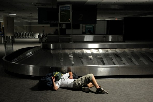 One worker grounds flights and leaves 6 million people without power