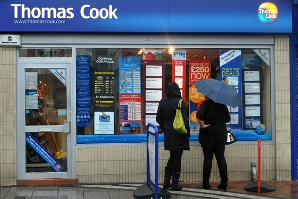 Thomas Cook to close 24 shops across the UK