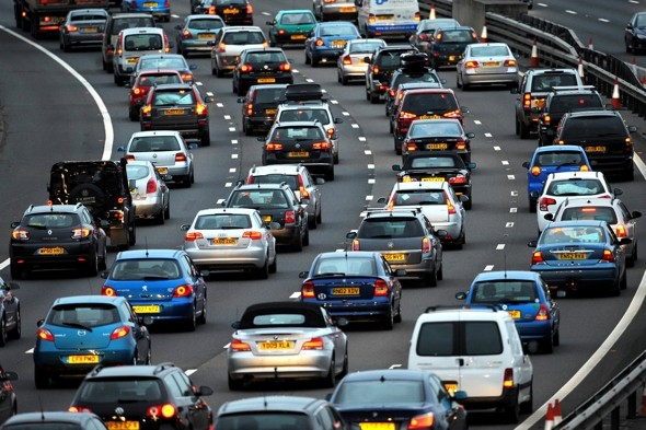 The great half-term escape: traffic trouble hits Britain AND it's going to rain