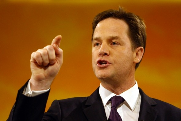 Woman 'physically restrained' after mid-flight air rage attack on Nick Clegg