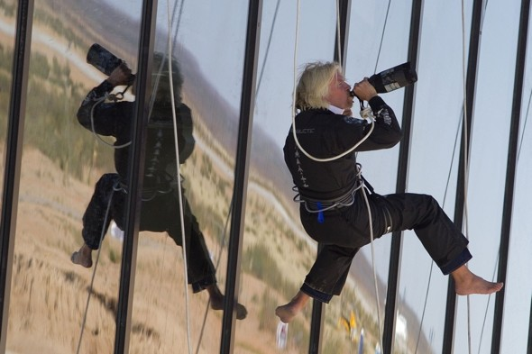Lift off! Sir Richard Branson opens world's first spaceport for tourists
