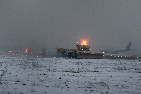 Powder patrol: Heathrow Airport triples snow-fighting fleet