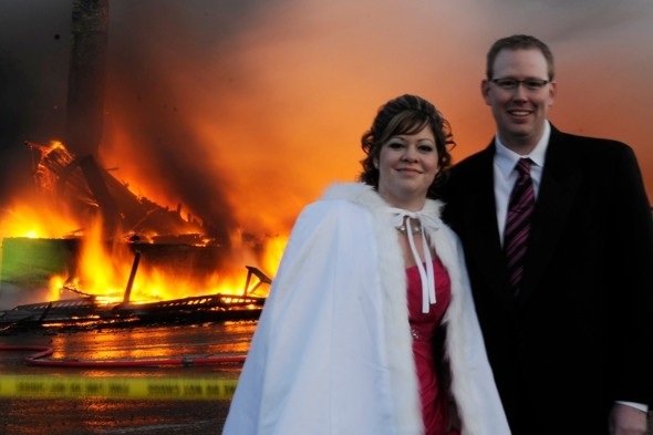 Luxury hotel explodes as couple prepare to marry