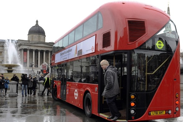 Boris' new hop-on hop-off bus runs out of fuel on the M1