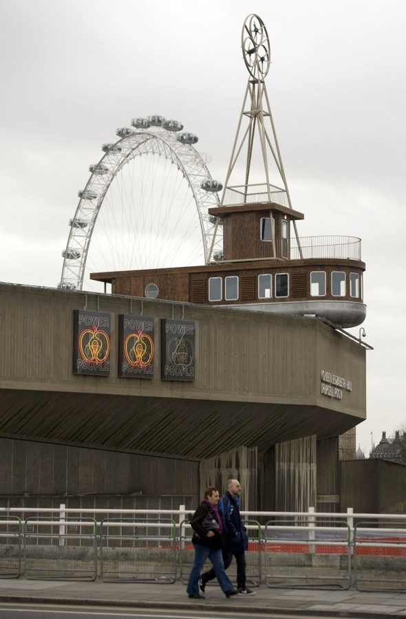 A bit fishy! Boat-shaped hotel appears on roof in London's Southbank