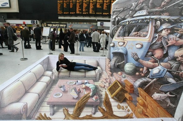 'Picasso' of 3D pavement art launches amazing book