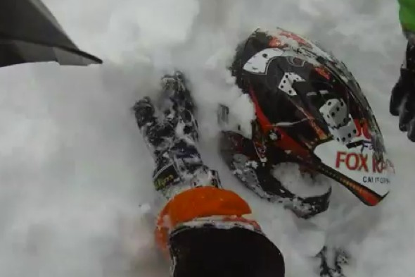 Dramatic video rescue as man buried alive by avalanche