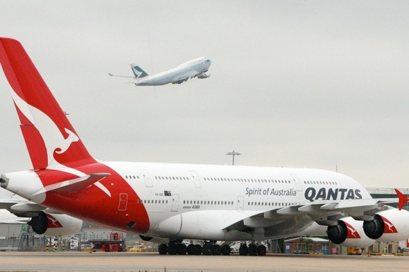Qantas pilots enter wrong data, risk plane 'falling from sky'