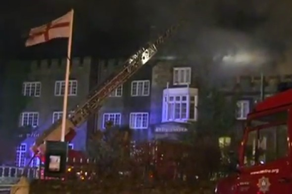 Isle of Wight hotel partially collapses after fire at wedding reception