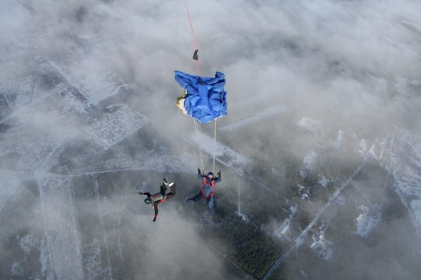 Skydiver terror as parachute fails to open at 5,000ft