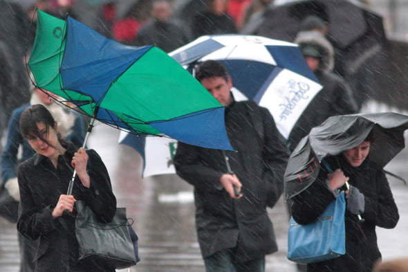 March blows in a storm: torrential rain and gale force winds on the way