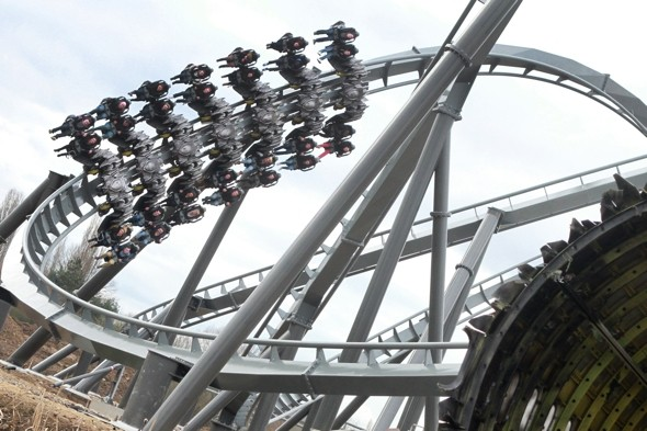 Thorpe Park's new ride The Swarm  breaks down on first day, people stuck for 'minutes'