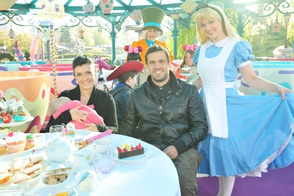Stars have turned out in force to celebrate the 20th anniversary of Disneyland Paris.