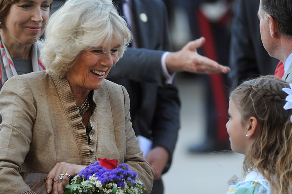 The Duchess of Cornwall has a hair-raising experience in Canada