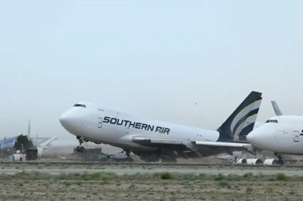 Video: Passenger jet blown off the ground by strong wind
