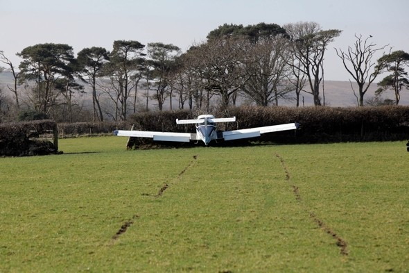 Pilot's 'miracle' escape after plane crashes upon take-off near Swansea Airport