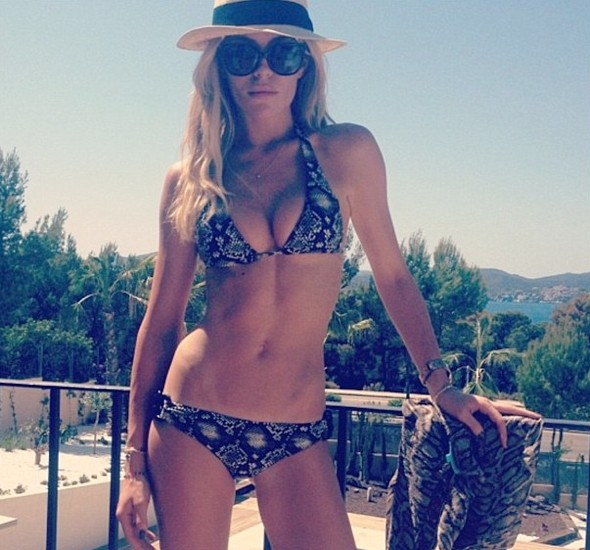 Another holiday? Abbey Crouch posts new bikini pic online